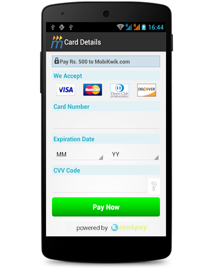 Online payment solutions - zaakpay pay by mobile phones